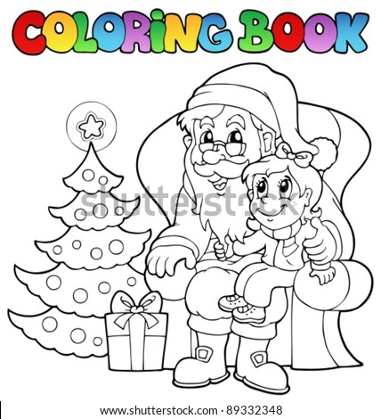 Coloring book Santa Claus theme 6 - vector illustration. - stock vector