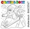 Coloring book Santa Claus topic 4 - vector illustration. - stock photo
