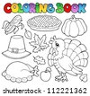 Coloring book Thanksgiving image 1 - vector illustration. - stock vector