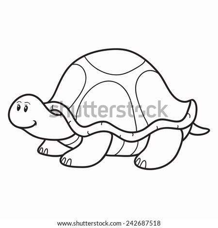 Coloring Book Turtle Stock Vector 242687518