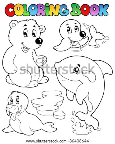Coloring Book Wintertime Animals 1