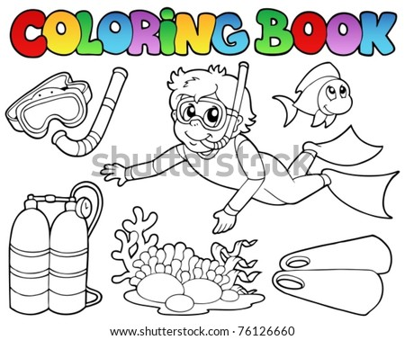 scuba gear coloring pages - photo#22