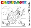 Coloring book with Easter theme 1 - vector illustration. - stock photo