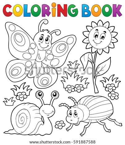 Coloring Book Small Animals 3 Eps 10 Stock Vector (Royalty Free ...
