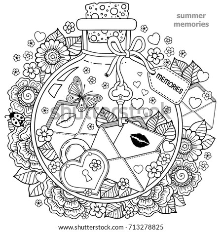 coloring adults vector coloring book adults のベクター画像素材