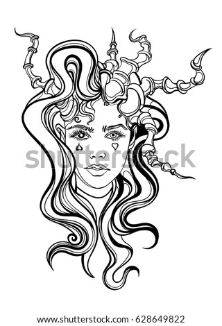 Evil spirit stock vector 89915656 shutterstock - Raging demon symbol ...