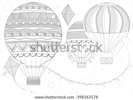 Coloring Page Adult Children A4 Vector Stock Photo Photo Vector