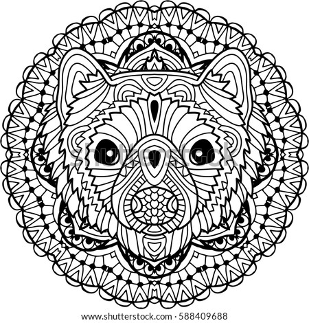 Coloring Page For Adults Australian Animal The Head Of A Marten With Patterns