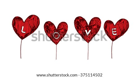 Coloring Page Heart St Valentines Day Stock Vector 375114502 ...