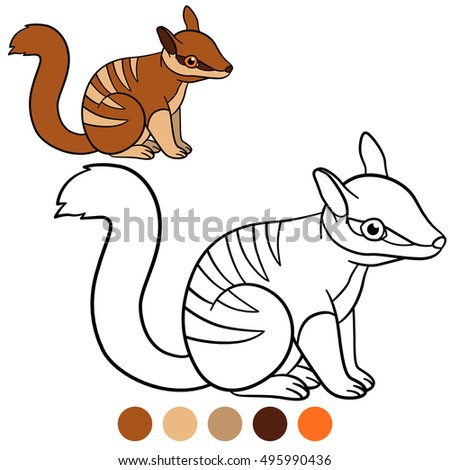 Coloring Page Color Me Fox Mother Stock Vector 438761764