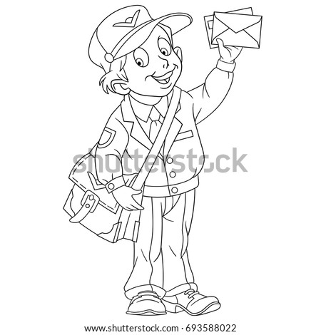 mailman coloring pages for toddlers - photo#19