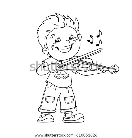Coloring Page Outline Cartoon Girl Playing Stock Vector 610051784 ...