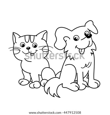 95 Coloring Book Cats And Dogs