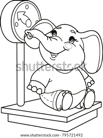 Coloring Page Outline Of Cartoon Elephant Vector Illustration Book For Kids