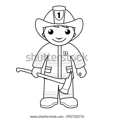 firefighter gear coloring pages - photo#24