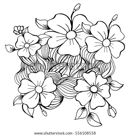 Coloring page flower black white vector stock vector 556108558 coloring page with flower black and white vector illustration mightylinksfo