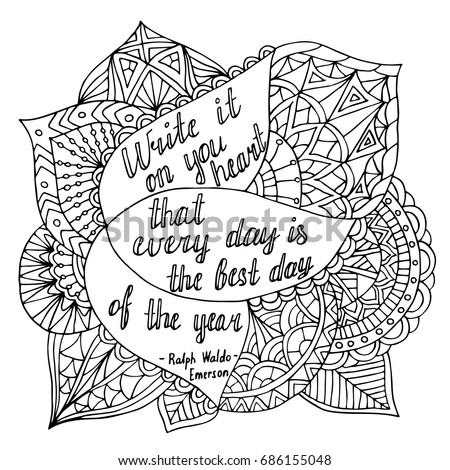 Coloring page motivational quote coloring adult stock Inspirational quotes coloring book for adults