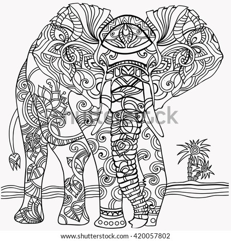 Coloring Pages . Elephant