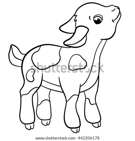 Cute Farm Animal Coloring Pages