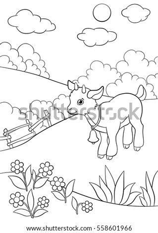 cartoon farm animals kids goat family stock vector 442206205 shutterstock. Black Bedroom Furniture Sets. Home Design Ideas