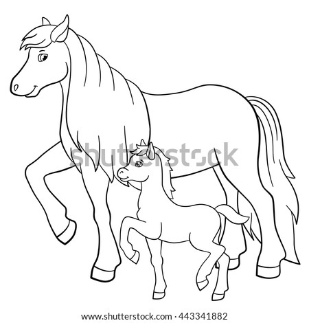 Mom Baby Horse Coloring Pages