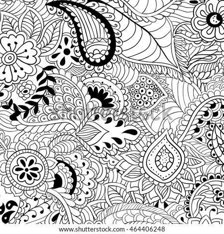 Coloring Pages Adults Abstract Vector Illustration Stock Vector HD ...