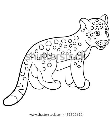 Coloring Pages Little Cute Spotted Baby Stock Vector Royalty Free