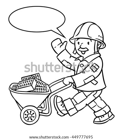 Coloring Picture Coloring Book Funny Construction Stock Vector (2018 ...