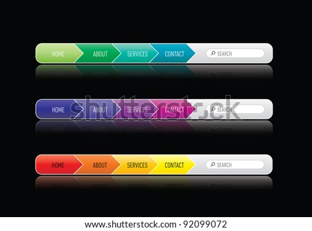 Colorizes website menu - stock vector