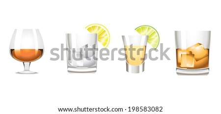 Colors hard alcoholic drinks icon