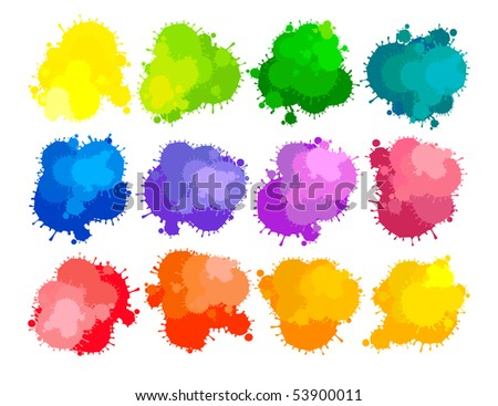 Colors of paints - stock vector
