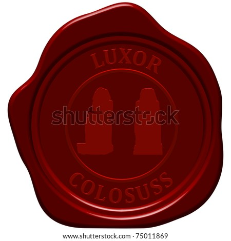 Colossus. Sealing wax stamp for design use. - stock vector