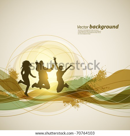 Colour abstract background for design. A vector illustration - stock vector