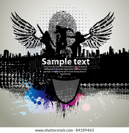 Colour grunge the poster - stock vector