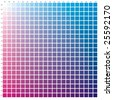 Colour guide Cyan-Magenta by 5 percent - stock vector