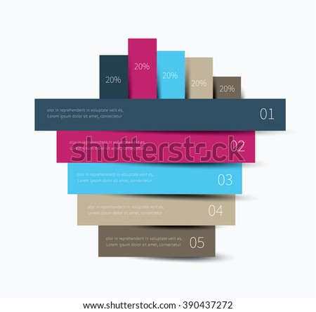 colour infographics sticker options with shadow, steps, presentation / infographics background - stock vector