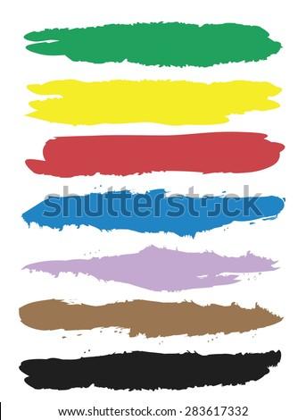 colour palette lines, vector illustration - stock vector