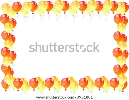 coloured balloons frame background texture