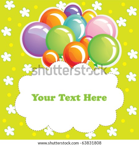 Coloured holiday balloons background, texture - stock vector