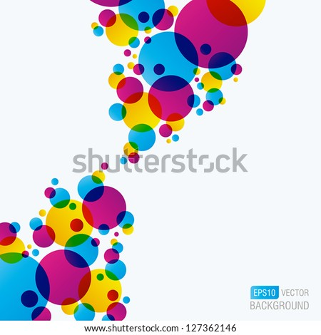 Colourful Abstract Background - stock vector