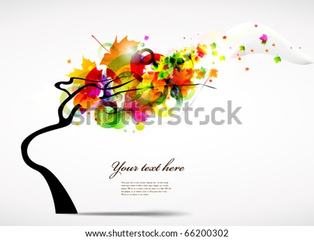 colourful autumn background - stock vector