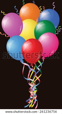 Colourful Birthday Or Party Balloons - stock vector