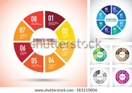 colourful business model infographic set - stock vector