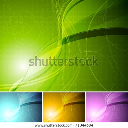 Colourful stylish backgrounds - stock vector