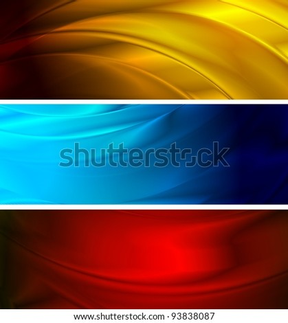 Colourful wavy backgrounds - stock vector