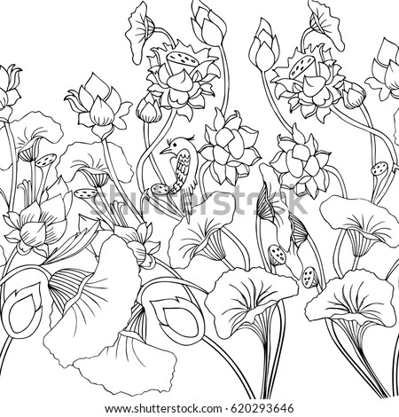 Seamless pattern marine design simple elements stock for Garden of eden xml design pattern