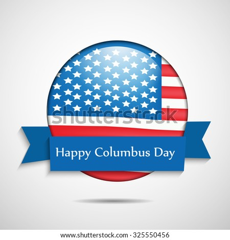 Columbus Day background - stock vector
