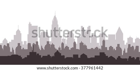 Columbus Morning City Skyline - Vector
