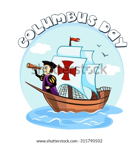 Columbus on the ship for your design