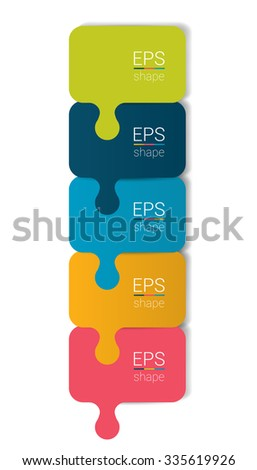 Colummn step by step diagram. Infographic flat tab. - stock vector